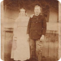 Kiss A. Vencel (1892-1972) és Basa Anna (1893-1982) esküvői képe 1919 májusából